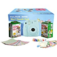 Fujifilm Instax Camera Mini 9 Bundle Pack (Ice Blue) with 40 Films Shot Free