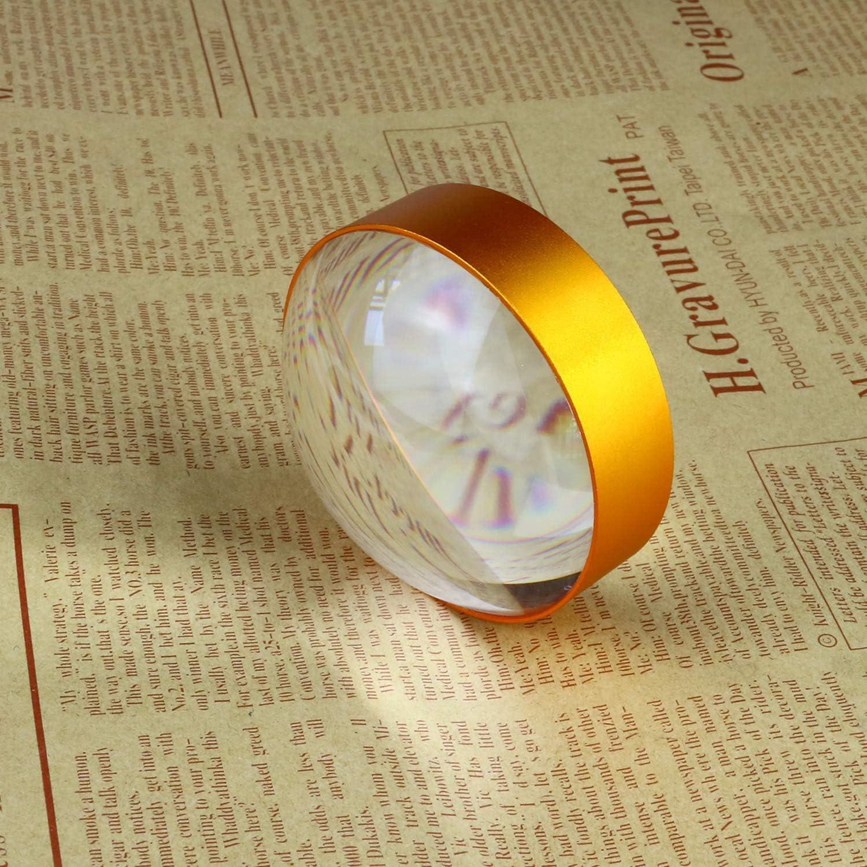 utilizzata per la lettura//osservazione del bambino dellingrandimento dellinsetto Beileshi Lente dingrandimento portatile con vetro semicircolare