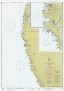 Historic Pictoric Map - Elk to Fort Bragg, CA, 1980 Nautical NOAA Chart - Vintage Wall Art - 44in x 62in