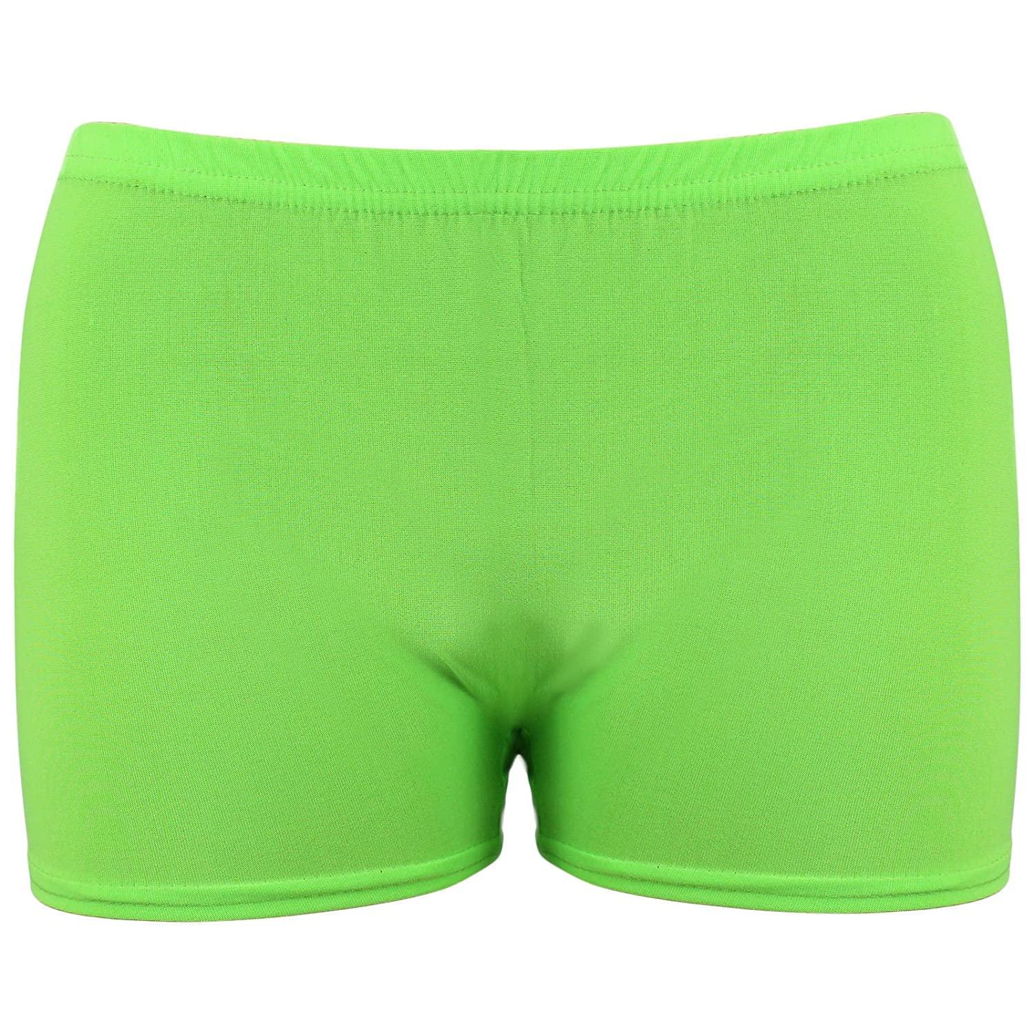 Unbranded Girls Microfiber Hot Pants Shorts Dance Gym Stretch Shorts Ages 5-12