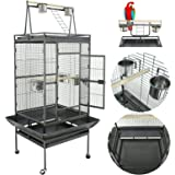 """Super Deal 53""""/61""""/68"""" Large Bird Cage Play Top Parrot Chinchilla Cage Macaw Cockatiel Cockatoo Pet House, 68 inch"""