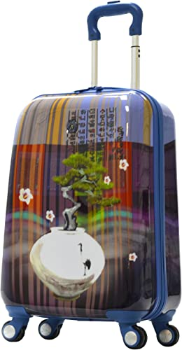 Olympia Luggage Arirang Art Series 21 Inch Carry-on, Sapphire Blue, One Size