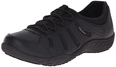 d945b321f803d Skechers for Work Women's Bungee Slip Resistant Lace-Up Sneaker, Black, ...