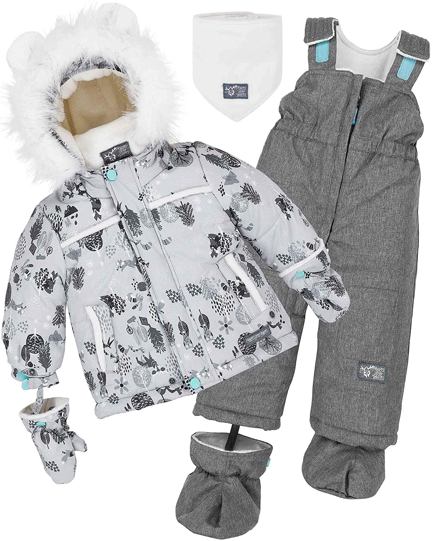 Deux par Deux Little Boys' 2-Piece Snowsuit Enchanted Forest, Sizes 18M-36M
