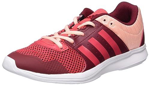 TG. 36 2/3 EU adidas Essential Fun II W Scarpe Sportive Indoor Donna Rosso