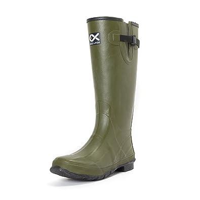 Amazon.com: Botas de caza de caucho verde de 18.0 in para ...