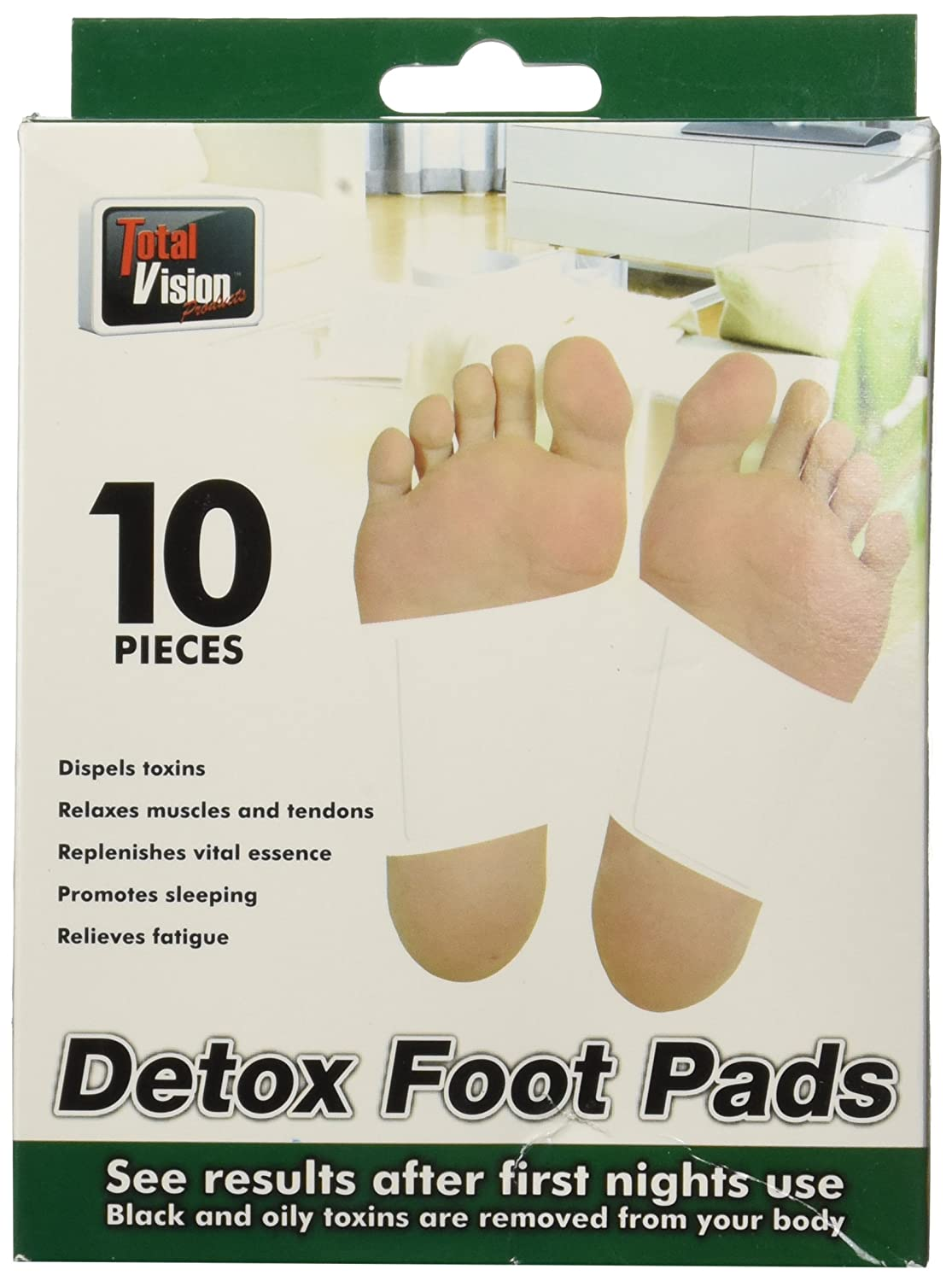 Total Vision Products Detox Foot Pads (10 pc Pack)