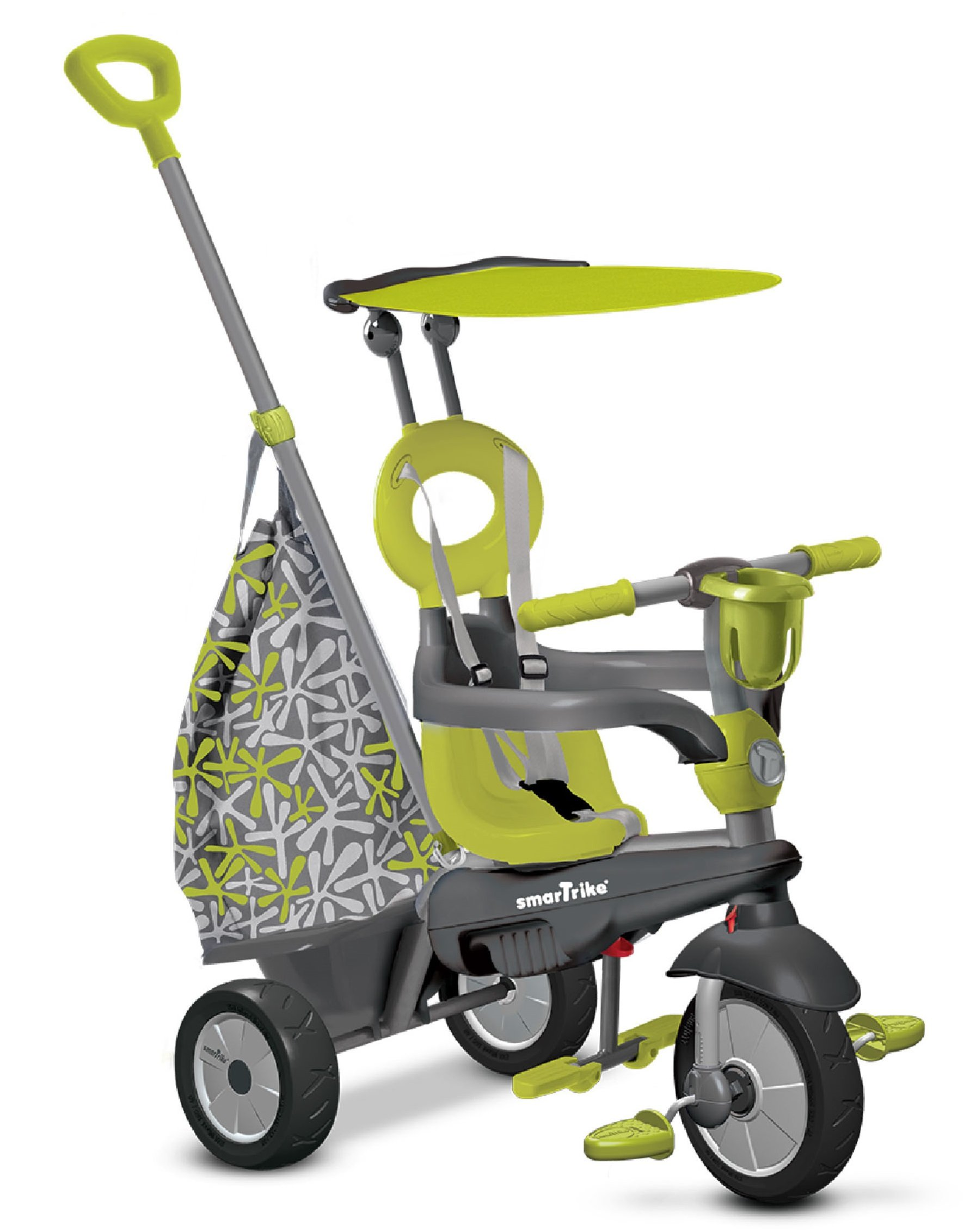 smarTrike Groove Baby Tricycle, Green/Gray