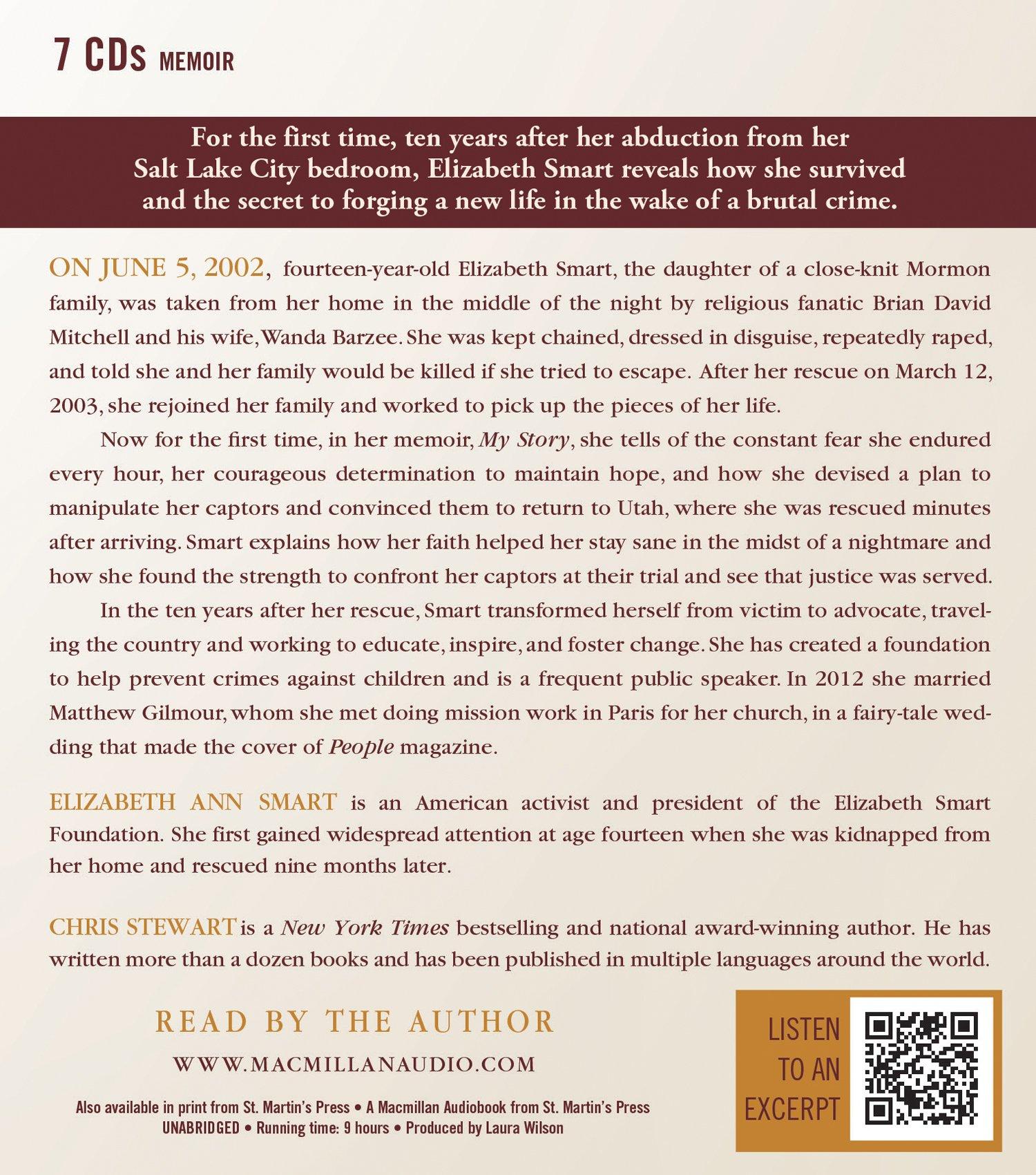 My Story: Elizabeth A. Smart, Chris Stewart: 9781427233424: Amazon.com:  Books