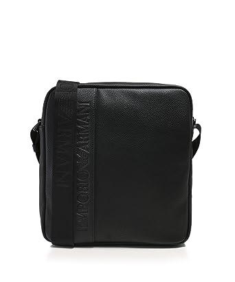 53b268ef936d Emporio Armani Hommes sac à bandoulière logo Noir Une Taille  Amazon.fr   Vêtements et accessoires