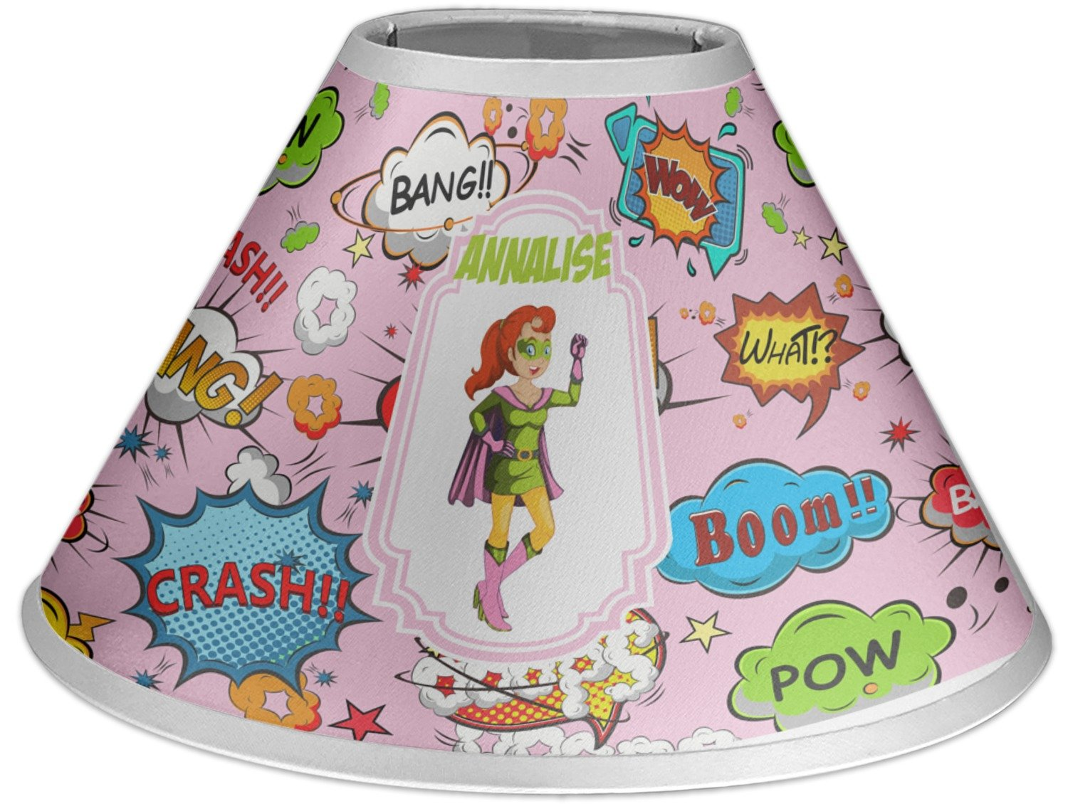 RNK Shops Woman Superhero Coolie Lamp Shade (Personalized)