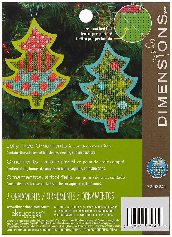 Dimensions Crafts Needlecrafts Ornaments Kit Jolly Tree