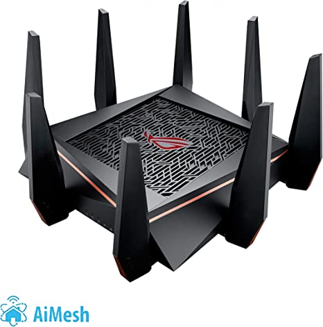 8 x Ports ASUS AC3100 Wi-Fi Dual-band Gigabit Wireless Router with 4x4 MU-MIMO