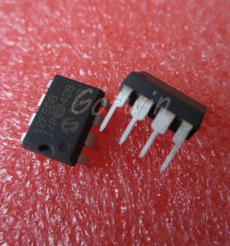 2 PCS PIC12F508 PIC12F508-I//P MIC IC MCU 8BIT 768B FLASH 8-DIP NEW