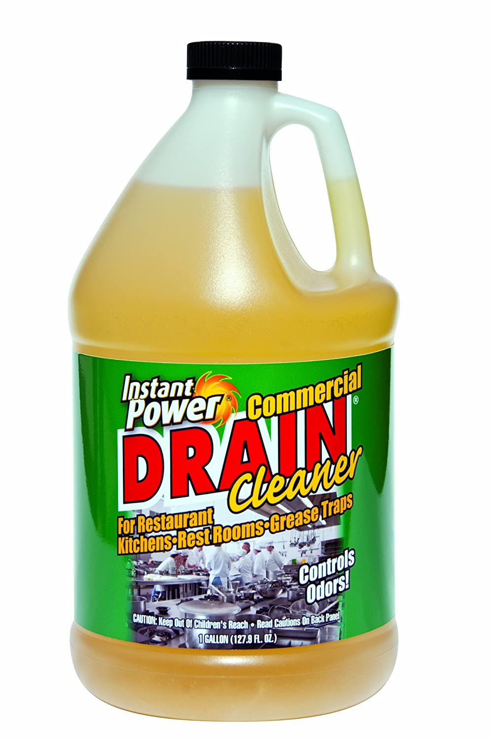Instant Power 1501 Disposal and Drain Cleaner, Lemon Scent, 4 Liter Case Scotch Corp. 1501/4