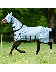 Best On Horse Printed Fly Rug and Mask - Outdoor Protective Field Yard Stable