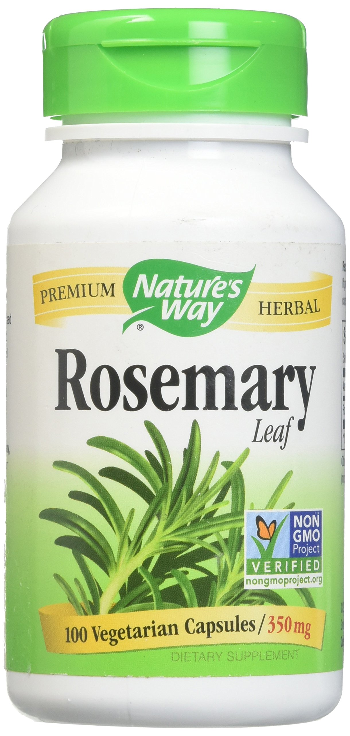 Natures WayRosemary Leaves 350Mg -100 Capsules