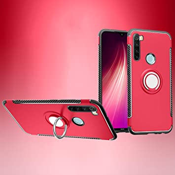 SWMGO® Firmness Smartphone Case with Ring for Xiaomi Redmi Note 8 ...