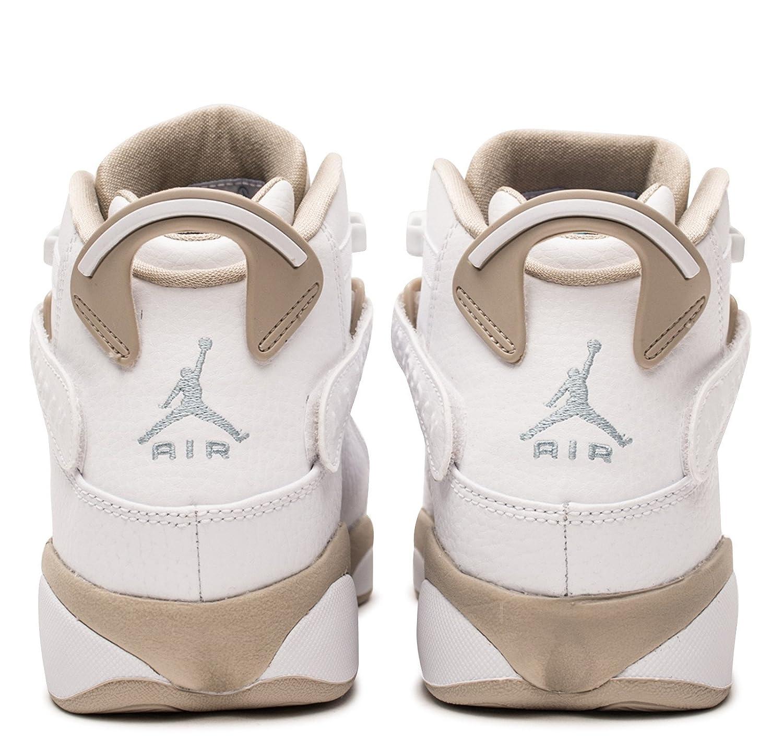 34a0c96a4ae Amazon.com | Nike Kids' Jordan 6 Rings GG White/LightSand 323399-107 |  Basketball