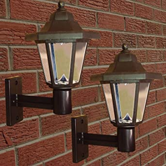 Solalite set of 2 solar powered victorian style led wall lights solalite set of 2 solar powered victorian style led wall lights aloadofball Gallery
