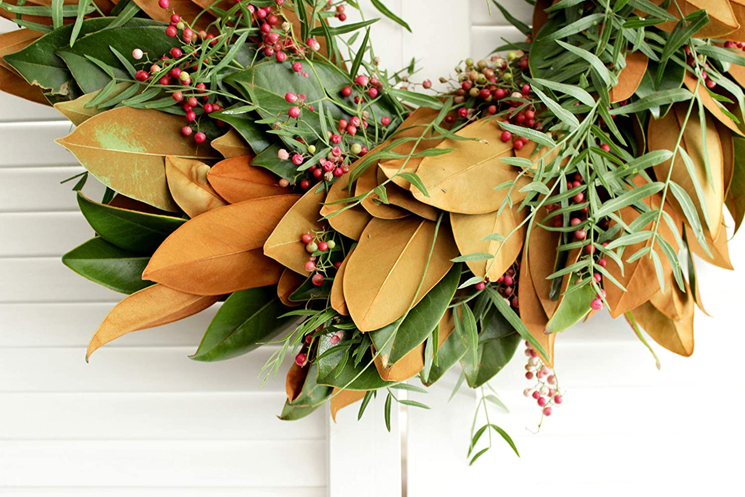Wedding Baby Shower Magnolia Holiday Decor Fresh Handmade Wreath - Front Door Decor Bridal Shower Pepperberry Wreath - various sizes available