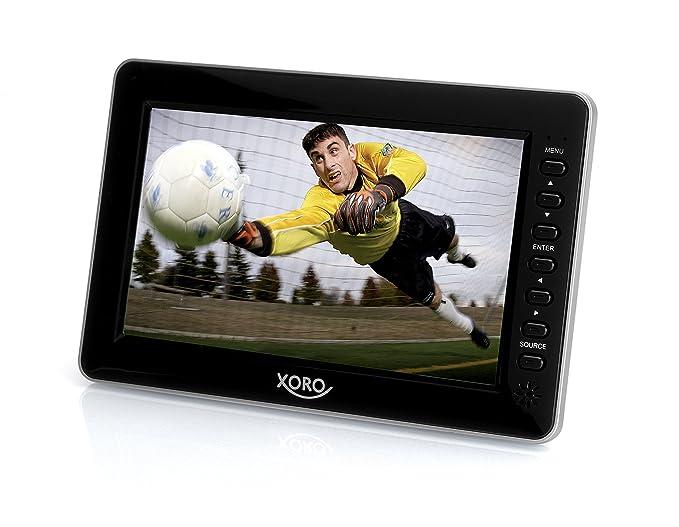 Xoro PTL 700 17.78 cm (7 Zoll) Tragbarer DVB-T2 Fernseher (H265 HEVC, Mediaplayer, USB 2.0, MicroSD, Teleskopantenne, Fernbed