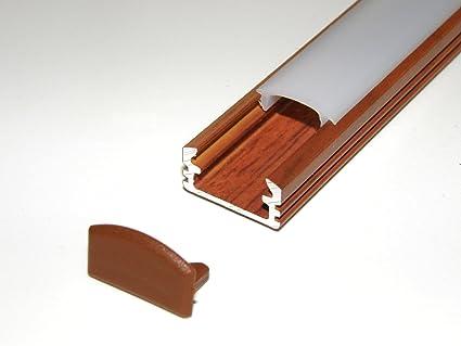 Profilo in alluminio per strisce led led nastri p finitura
