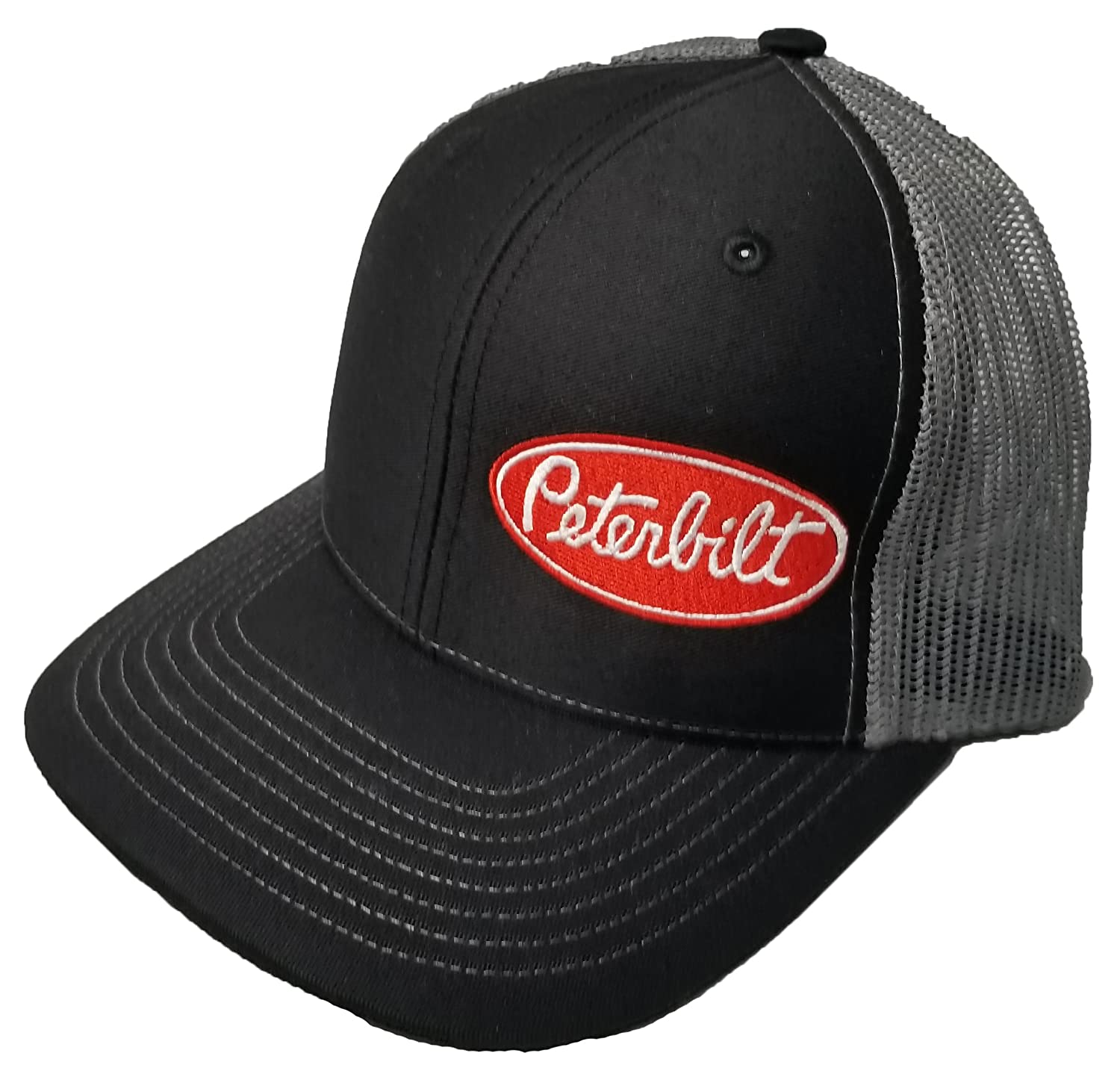 dcd1f415a2f Richardson Peterbilt Logo Emblem Hat Cap Adult Adjustable Snapback Unisex  at Amazon Men s Clothing store
