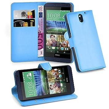 e6f236c5390 Cadorabo Funda Libro para HTC Desire 610 en Azul Pastel: Amazon.es:  Electrónica