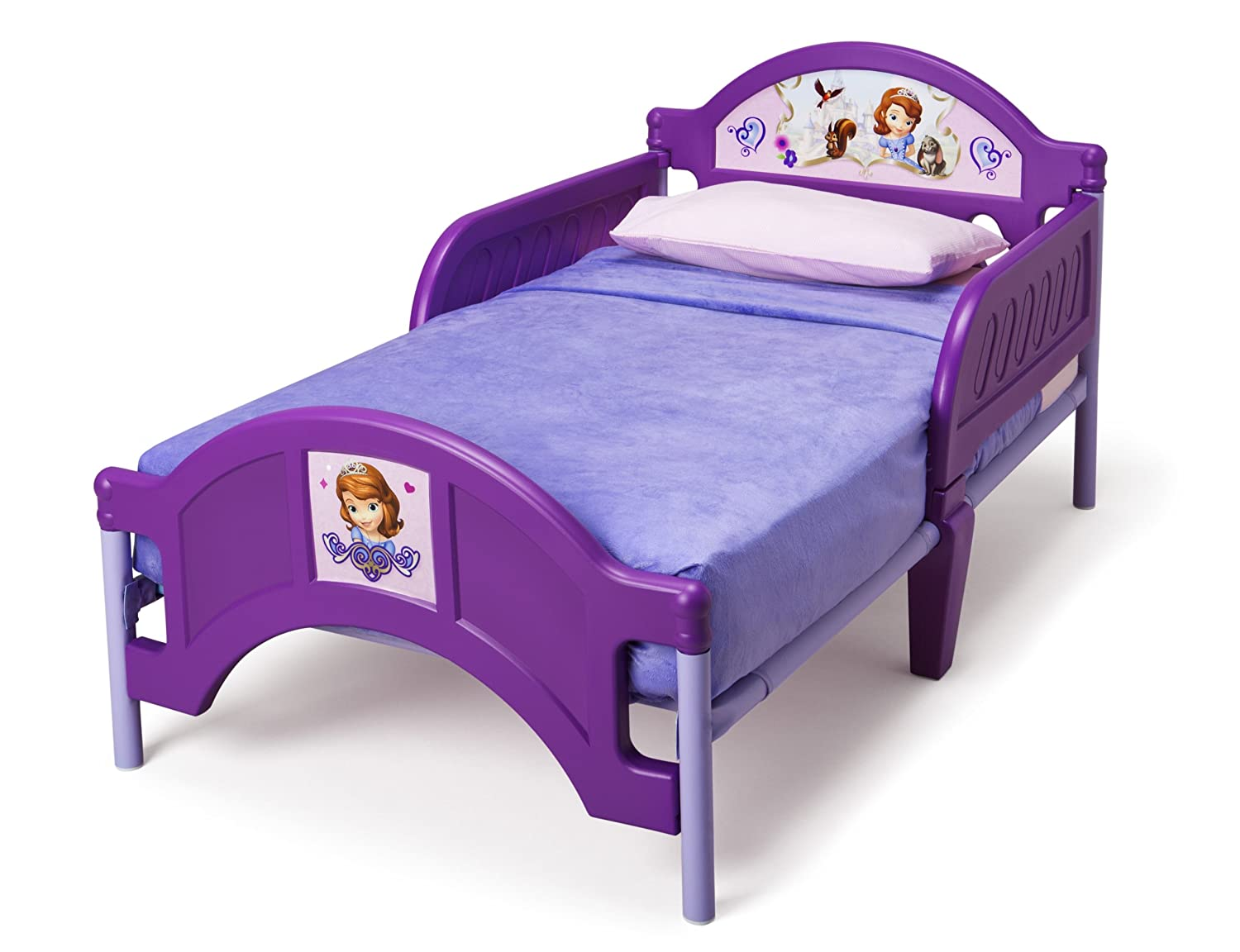 Amazon.com : Delta Children Plastic Toddler Bed, Disney Junior Sofia The  First : Childrens Furniture : Baby