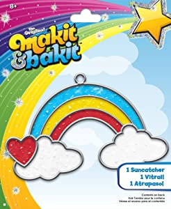 Colorbok TB-66597 Makit and Bakit Suncatcher Kit, Rainbow with Clouds
