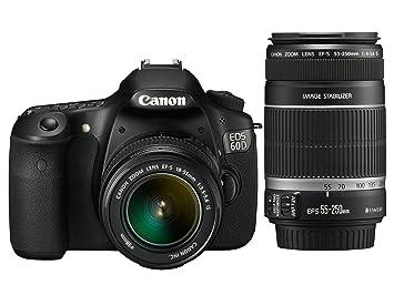 Canon EOS 60D - Cámara Réflex Digital 18 MP (Objetivo 18-55mm IS +