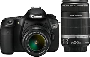 Canon EOS 60D - Cámara Réflex Digital 18 MP (Objetivo 18-55mm IS + ...