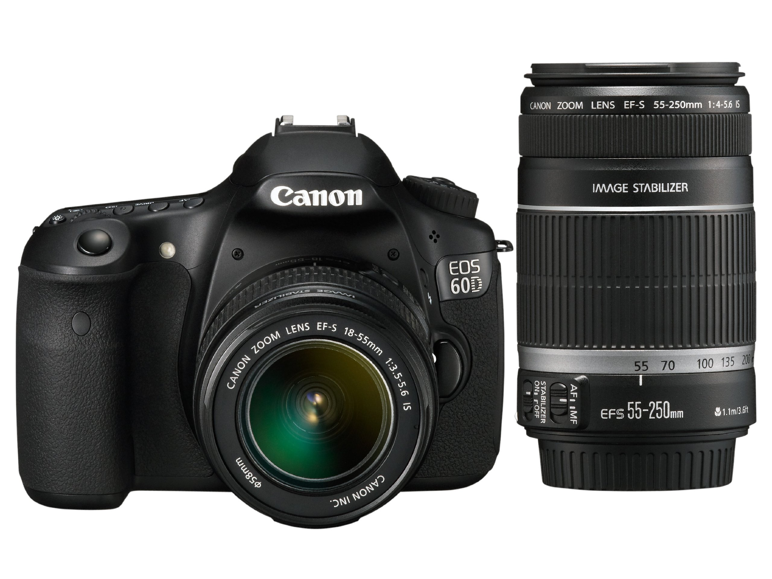 Canon EOS 60D SLR Fotocamera Digitale Reflex 18 Megapixel + Kit EF-S 18-55mm IS e EF-S 55-250mm IS product image