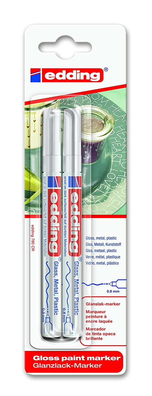 Edding 780 Fine Bullet Tip Paintmarker Pack of of 2 - White 4-780-2-1049