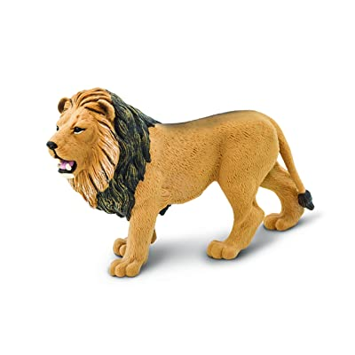 Safari Ltd. Wildlife – Lion – Realistic Hand Painted Toy Figurine Model – Quality Construction from Phthalate, Lead and BPA Free Materials – For Ages 3 and Up: Toys & Games