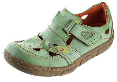 TMA Leder Damenschuhe Halbschuhe Slipper Comfort Schuhe 1901 (36, Blau)