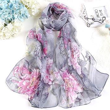DYEWD Foulards écharpe femme, longue section mince écharpe, écharpes de fil  Georgy, foulards fd580f94cf6