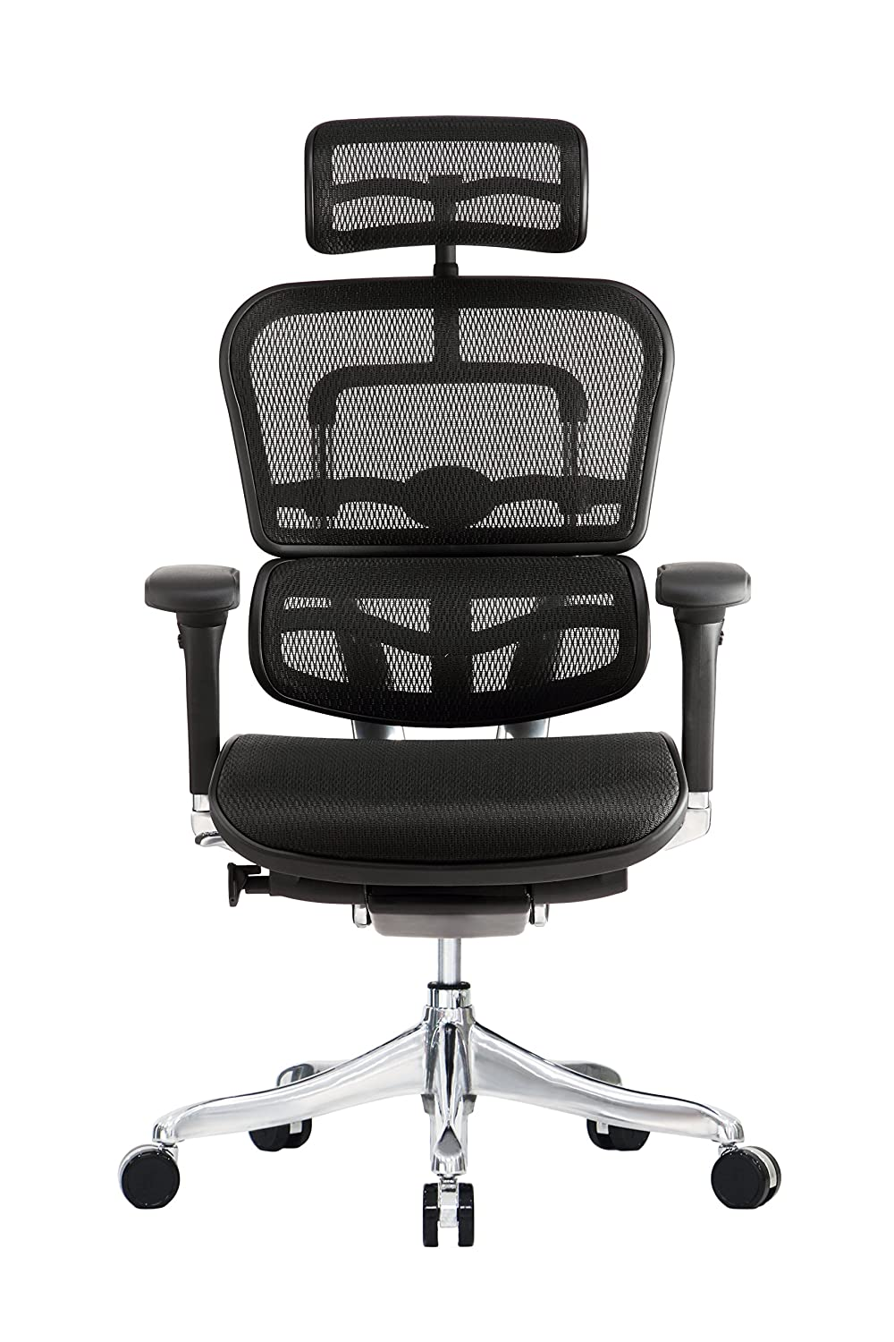 Eurotech Seating Ergo Elite High Back Chair, Black
