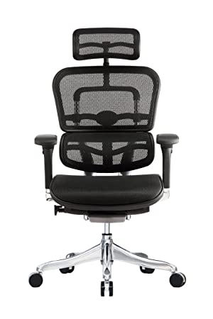Eurotech Seating Ergo Elite ME22ERGLT High Back Chair, Black