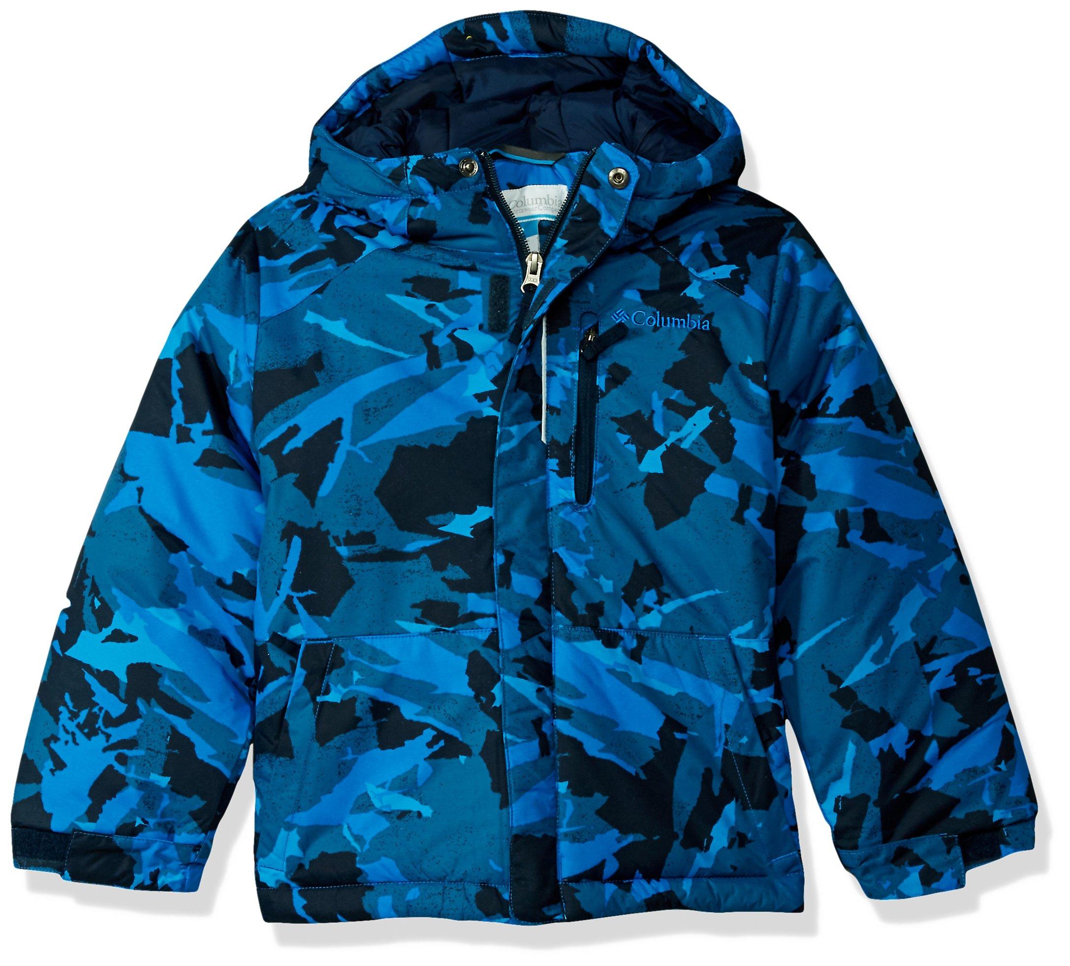 Columbia Little Boys' Lightning Lift Jacket, Super Blue Woodsy Camo, XX-Small