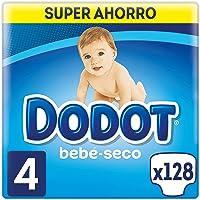 Dodot Bebé-Seco Pañales Talla 4, 128 Pañales, con Canales de Aire