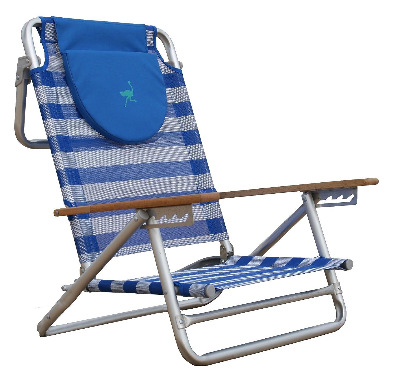 Amazon Ostrich South Beach Sand Chair Blue White Patio