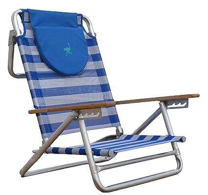 Ostrich South Beach Sand Chair, Blue/White