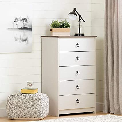 Amazon.com: Dressers for Bedroom Kids-White Wood Five ...