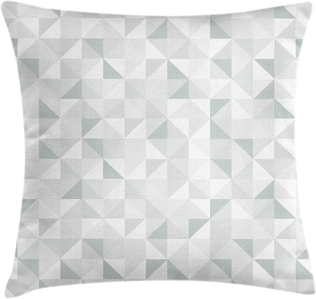 Gray Cube Pillow Cover – Square