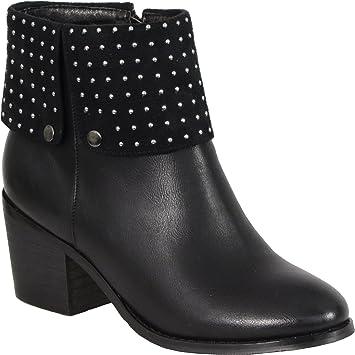Milwaukee Womens Side Zipper Plain Toe Boots Black, Size 7.5