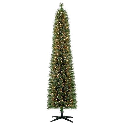 Holiday Time 7ft Pre-Lit Pencil Shelton Cashmere Fir Artificial Christmas  Tree 300 Lights - Amazon.com: Holiday Time 7ft Pre-Lit Pencil Shelton Cashmere Fir