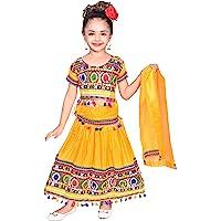 Ahhaaaa Kids Ethnic Cotton Blend Radha Dress Lehenga Choli Chania Choli Set Baby Girls 0012