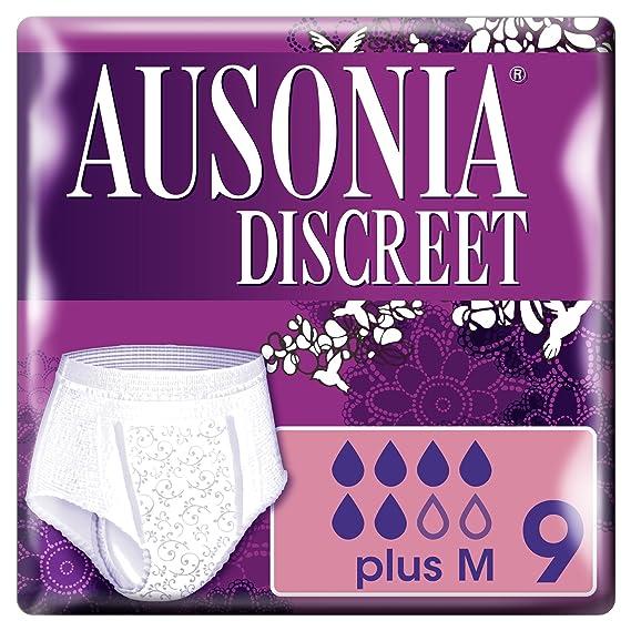 Ausonia Discreet Plus Braguitas Pants para Pérdidas de Orina, Talla M - 9 Unidades: Amazon.es: Amazon Pantry